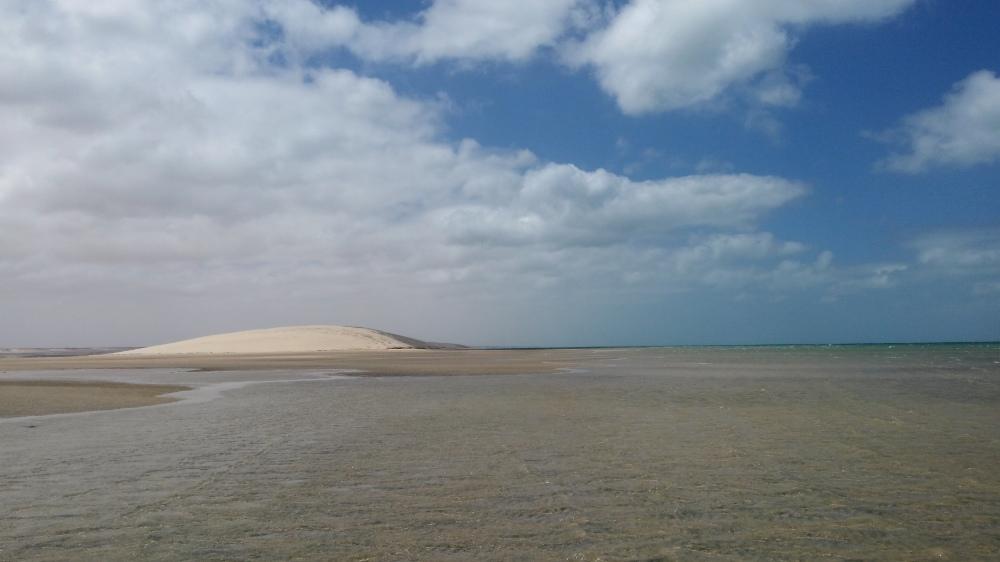 White dune spot, Morocco